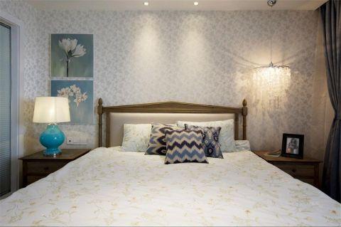 卧室白色背景墙美式风格效果图