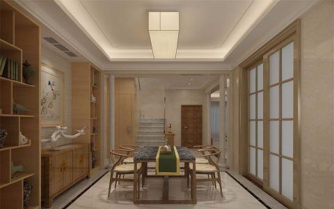 餐厅白色地砖现代简约风格装修效果图