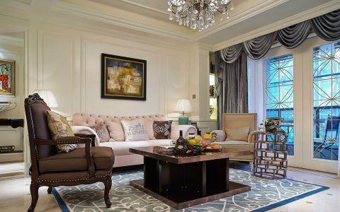 美式风格130平米四室两厅新房装修效果图