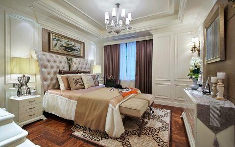 卧室床头柜美式风格装潢效果图