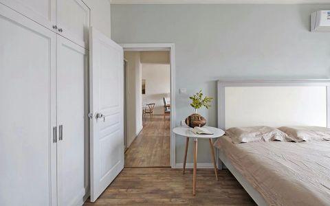 卧室咖啡色地板砖现代风格装饰设计图片