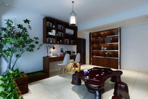 书房书桌现代风格装潢设计图片