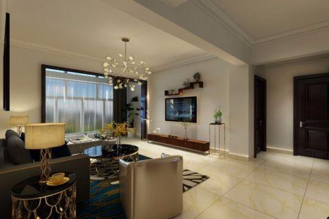 客厅咖啡色现代风格装修效果图