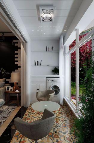 阳台白色吊顶现代简约风格装饰图片