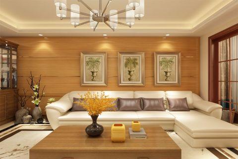 新中式风格112平米两室两厅新房装修效果图