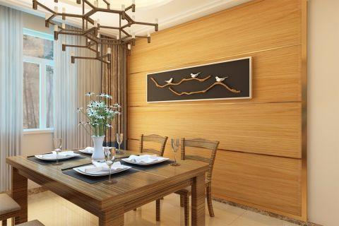 餐厅餐桌新中式风格装饰效果图