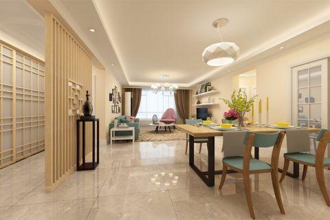 现代简约风格98平米两室两厅新房装修效果图