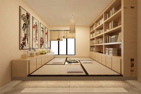 书房榻榻米现代简约风格装修效果图