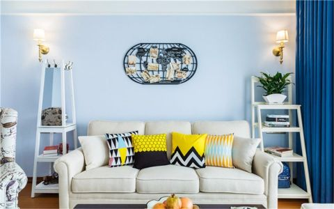 客厅白色沙发美式风格效果图
