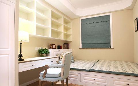 书房白色榻榻米美式风格装饰图片
