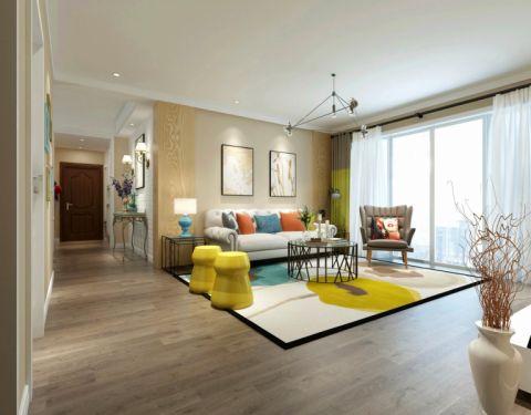 客厅窗帘简约风格装修图片
