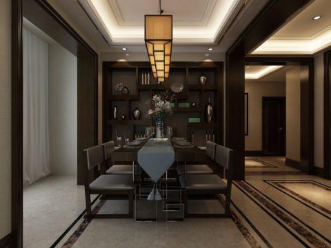 餐厅吊顶新中式风格装潢设计图片