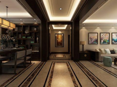 新中式玄关走廊装饰图片