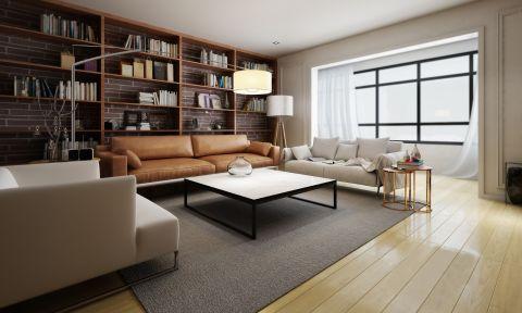 现代简约风格55平米一居室室内装修效果图