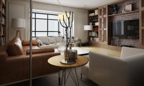温馨咖啡色客厅装修方案