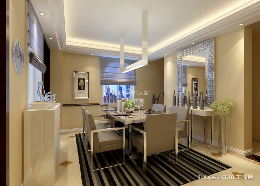 混搭风格320平米别墅新房装修效果图