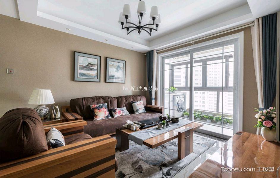 九龙仓御园120平现代风格二居室装修效果图