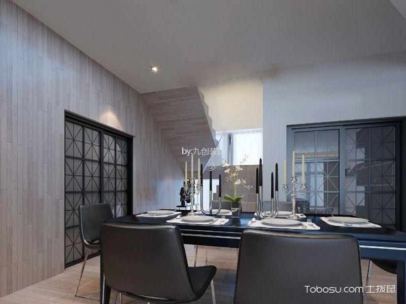 餐厅黑色餐桌简约风格装潢图片