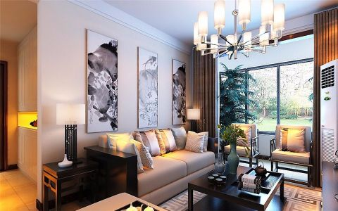唯美客厅照片墙装饰实景图片