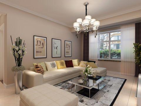 鼎世华府95平三居室现代风格装修效果图