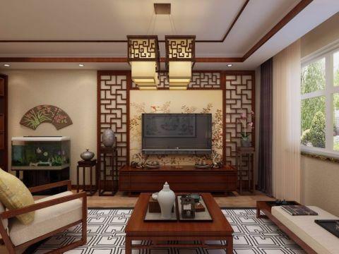 中南世纪城108平三居室新中式风格装修效果图