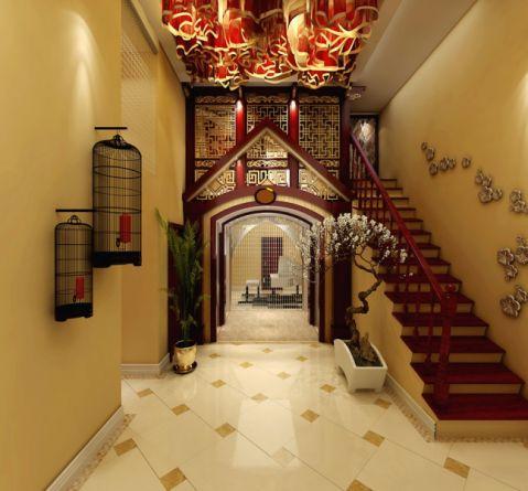 玄关楼梯混搭风格装修设计图片