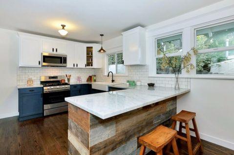 厨房背景墙北欧风格装饰设计图片