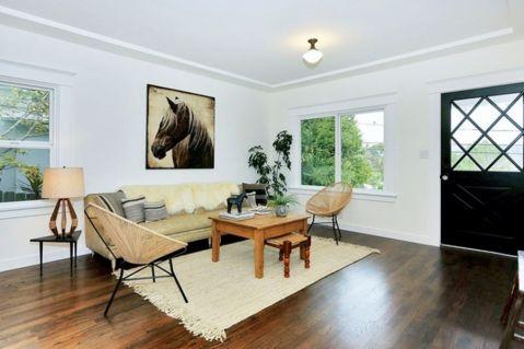 100平北欧风格三居室装修效果图