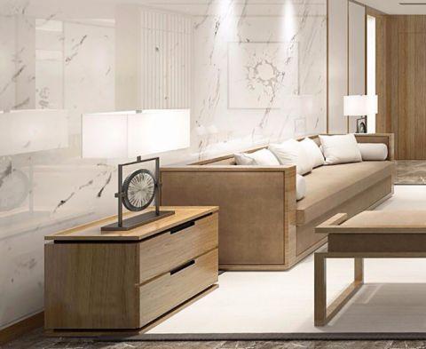 客厅白色背景墙新中式风格效果图