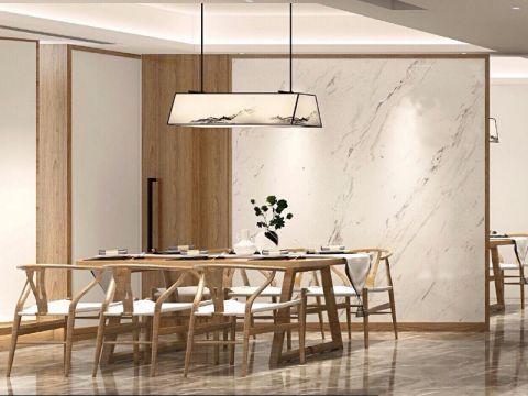 餐厅灰色地砖新中式风格装修图片