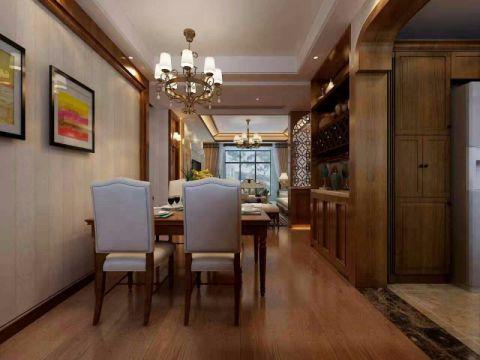 餐厅白色吊顶现代中式风格装饰效果图