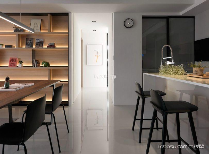 厨房白色厨房岛台北欧风格装潢设计图片