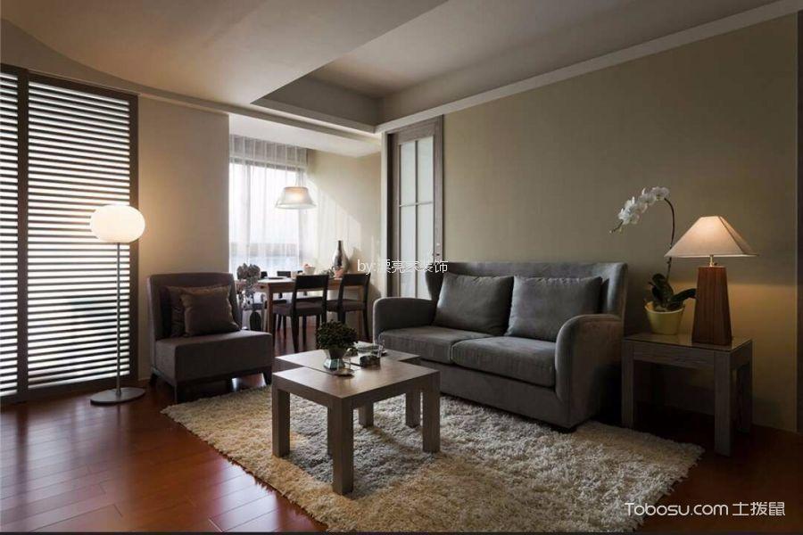 90平现代简约风格三居室装修效果图