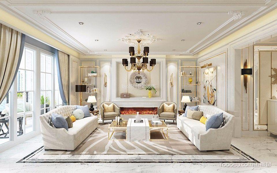 简约风格250平米三室两厅新房装修效果图