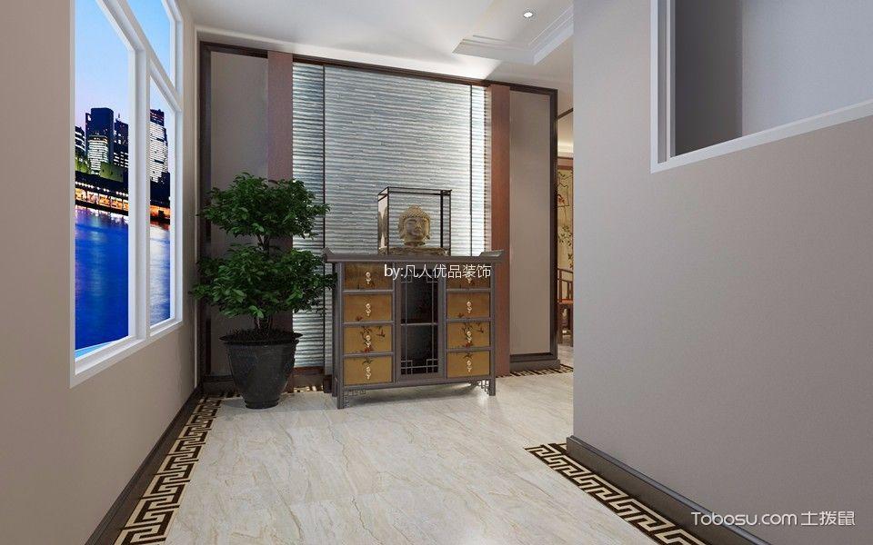 揽月豪庭120平中式风格三居室装修效果图