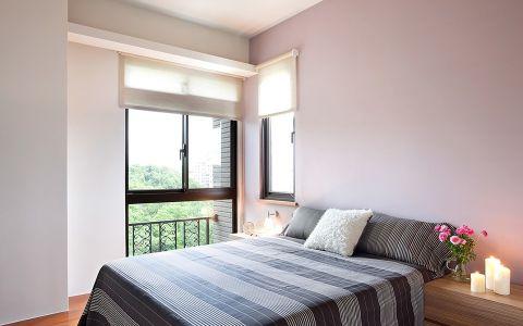 现代卧室床装修案例效果图