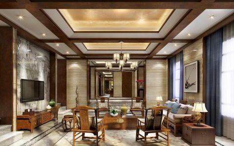 中式风格120平米四室两厅新房装修效果图