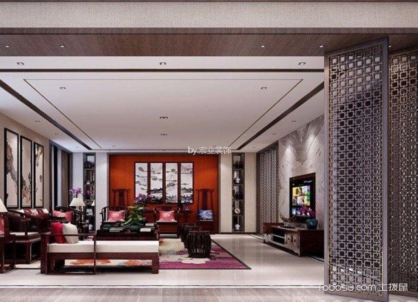 中式风格340平米别墅新房装修效果图