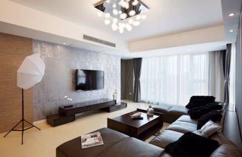 西溪海小海100平简约风格二居室装修效果图