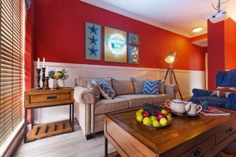 众安理想湾90平美式风格二居室装修效果图