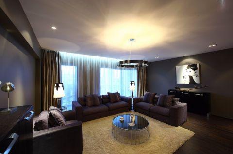 金地艺境110平现代风格二居室装修效果图