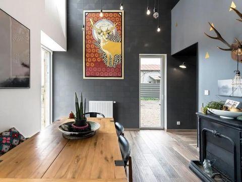 餐厅照片墙混搭风格效果图
