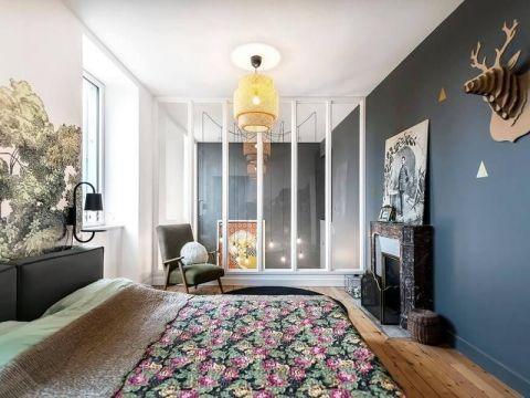 卧室推拉门混搭风格装饰效果图
