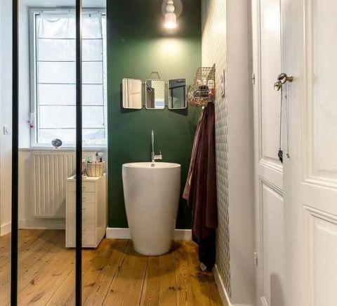 卫生间隔断混搭风格装修图片