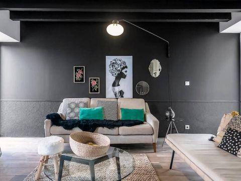 180平房四居室混搭风格装修效果图