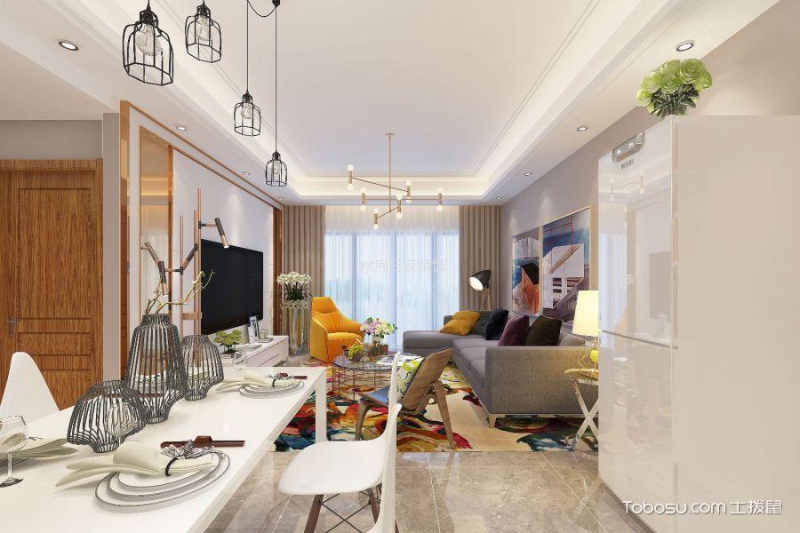 保利春天里80m²简约风格二居室装修效果图