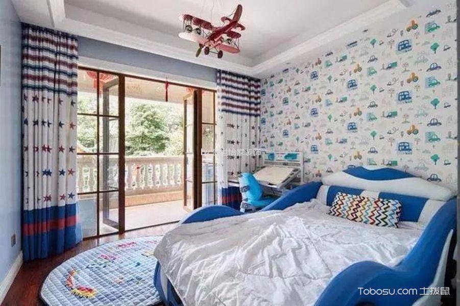 儿童房白色榻榻米新中式风格装潢效果图
