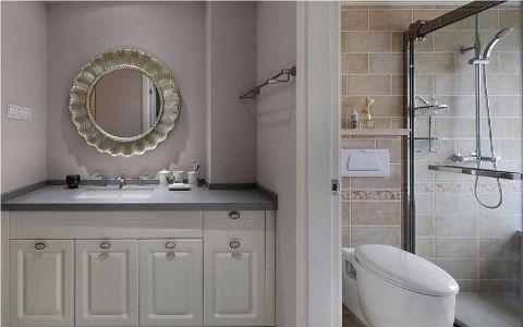 卫生间隔断简欧风格装饰设计图片
