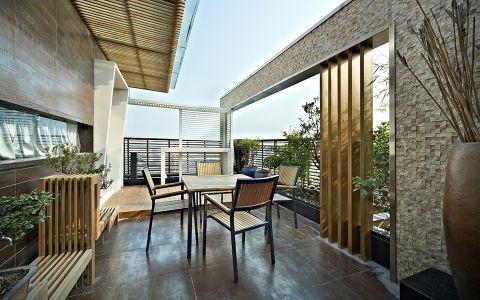 花园背景墙现代简约风格装修效果图