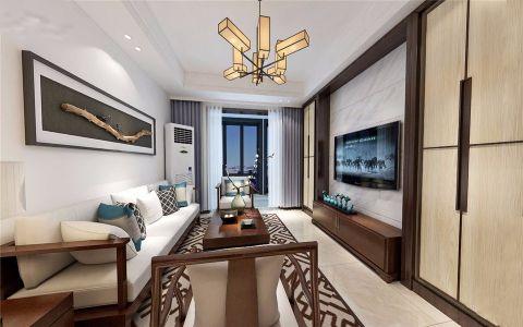 谭桥家园100平米简中风格三居室装修效果图
